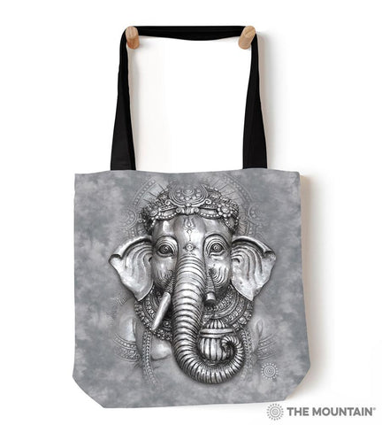"9736812 Big Face Ganesh 18"" Tote Bag"