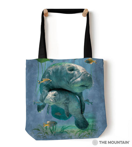 "9759032 Manatees Collage 18"" Tote Bag"