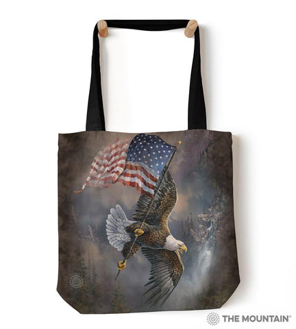 "9759582 Flag-Bearing Eagle 18"" Tote Bag"