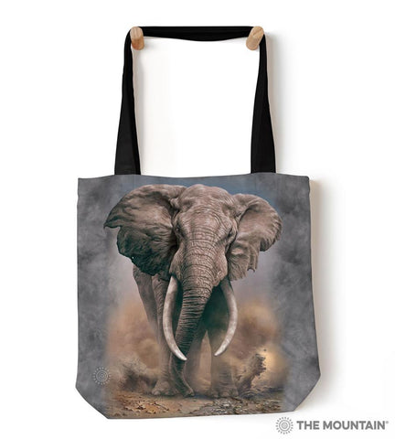 "9759592 African Elephant 18"" Tote Bag"