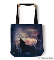 "9759712 Patriotic Howl 18"" Tote Bag"