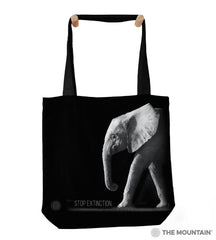 "9759742 Stop Extinction 18"" Tote Bag"
