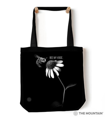 "9760882 Bee My Voice 18"" Tote Bag"