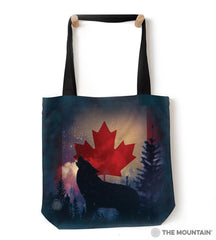 "9761232 Canadian Howl 18"" Tote Bag"