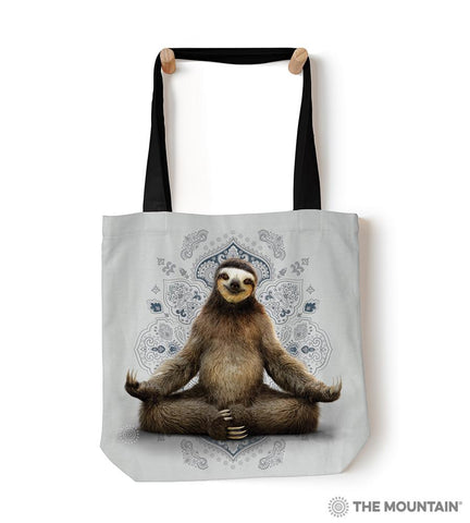 "6286 Vriksasana Sloth 18"" Tote Bag"