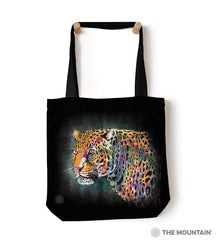 "6321 Painted Cheetah 18"" Tote Bag"