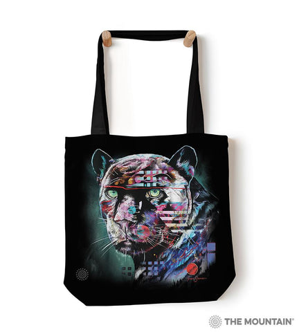 "6324 Painted Jaguar 18"" Tote Bag"
