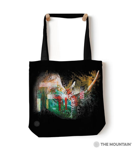 "6325 Painted Rhino 18"" Tote Bag"