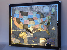 Load image into Gallery viewer, Metal map, metal map of the world, planispheres, wall map, wood map, stone, map