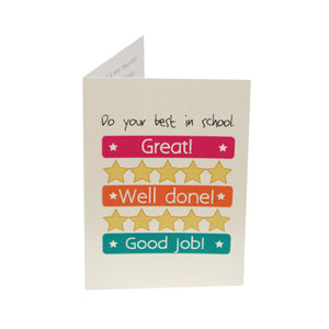 Do Your Best in School Kid Card