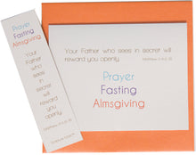 Load image into Gallery viewer, Prayer, Fasting, Almsgiving Note Card