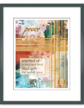 "Load image into Gallery viewer, ""Peace"" Watercolor Print"
