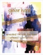 "Load image into Gallery viewer, ""Spoken Word"" Watercolor Art Print"