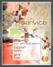"Load image into Gallery viewer, ""Service"" Watercolor Print"