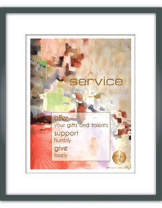 """Service"" Watercolor Print"