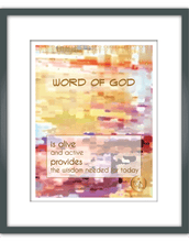 "Load image into Gallery viewer, ""Word of God"" Watercolor Print"