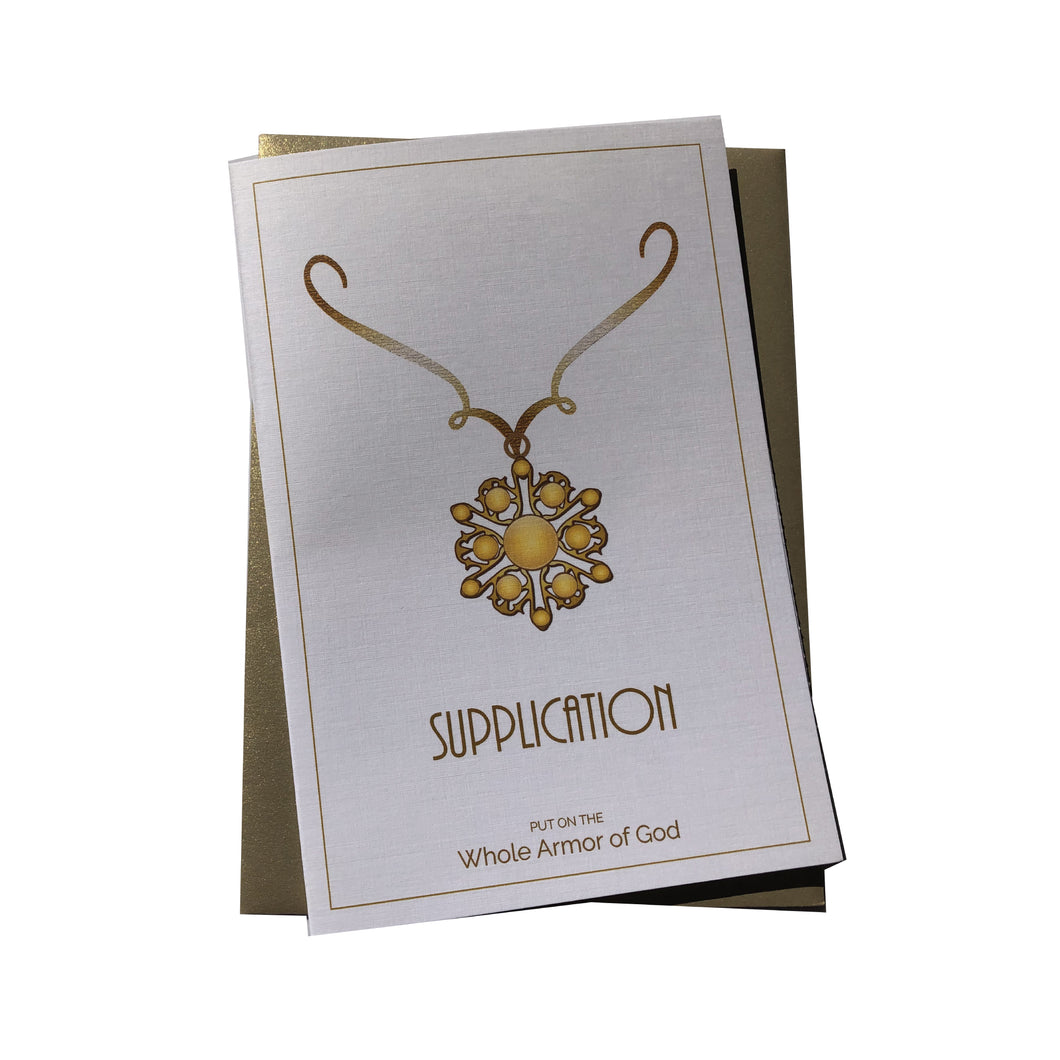 Supplication Greeting Card [Whole Armor of God]