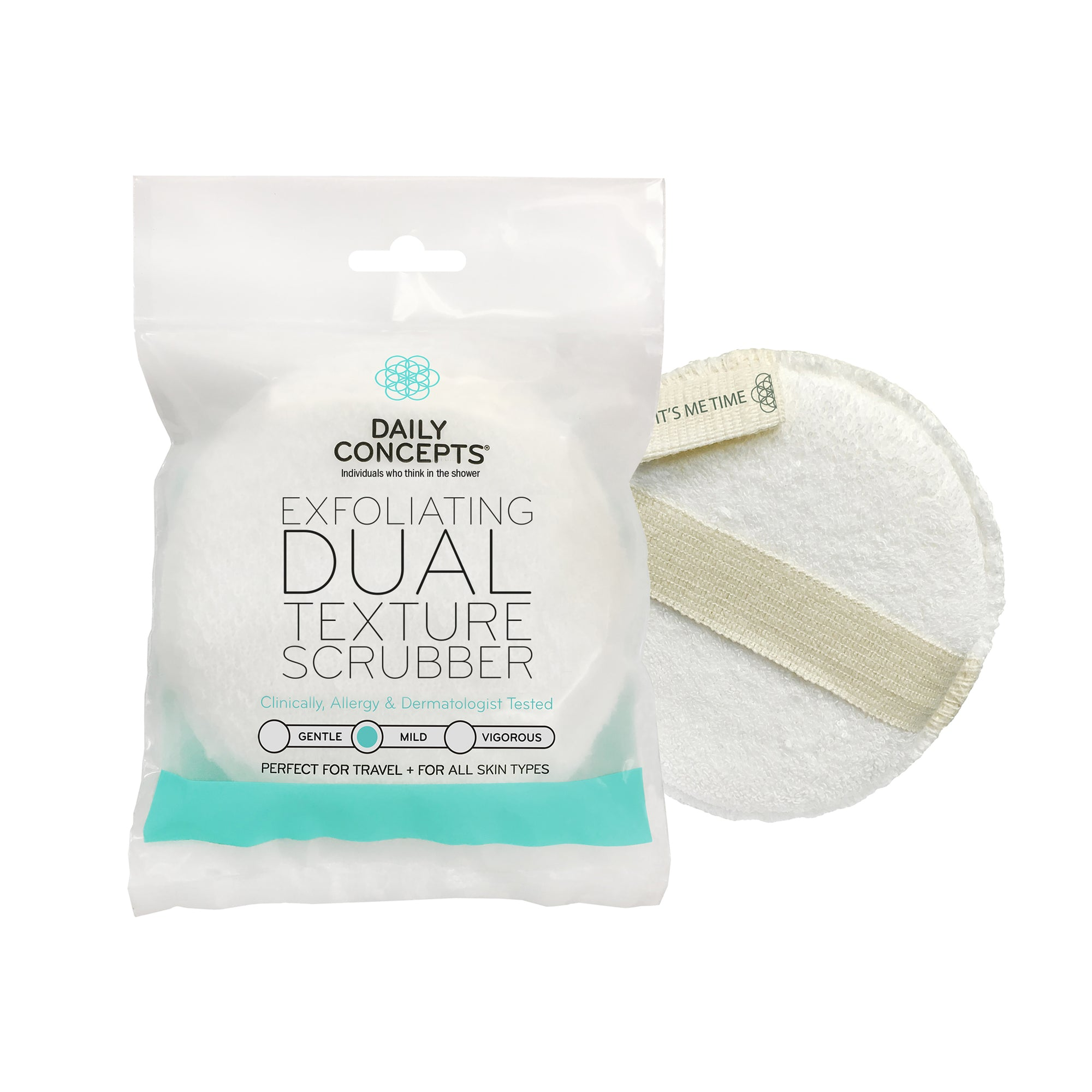 Daily Concepts - Daily Exfoliating Dual Texture Mini Scrubber
