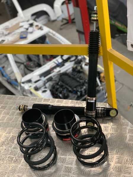 REAR PAIR ONLY DAMPERS AND SPRINGS: BC Racing AE86 BR Series Type RA