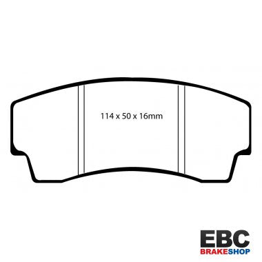EBC For AP Racing 13 Inch AE86 Kit Yellowstuff Front Brake Pads DP4008R - Group-D