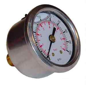 SYTEC FUEL PRESSURE GAUGE 1-7 BAR (GLYCERINE FILLED) - Group-D
