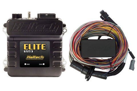 Elite 550 + Premium Universal Wire-in Harness Kit Length: 2.5m (8')