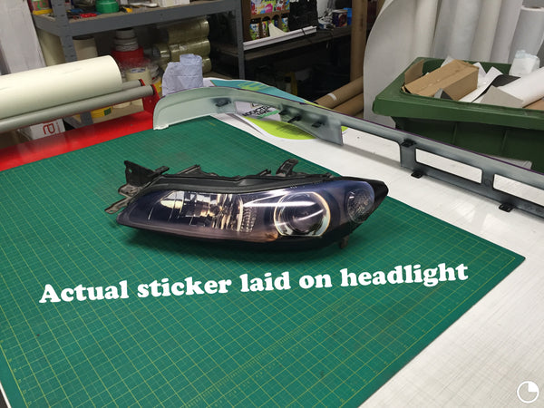 S15 Stickers for Headlight Blanks