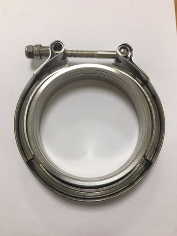 V-Band clamp and flange set 4""