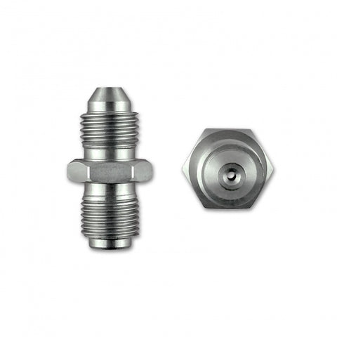 "MALE TO MALE OIL RESTRICTOR ADAPTER - 7/16"" X 20 UNF (-4 JIC) TO 7/16"" X 24 GARRETT GT SERIES TURBO - Group-D"