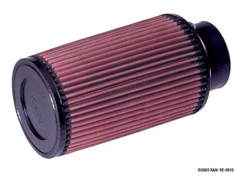 "K&N RE-0910 UNIVERSAL 3"" CONE FILTER"