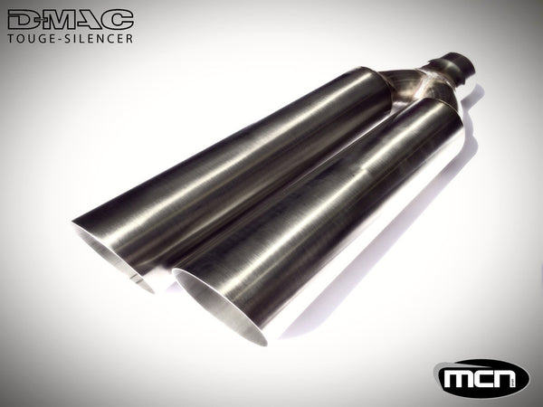 2.5 Inch Inlet D-MAC TOUGE TAIL PIPE (UNSILENCED) - Group-D
