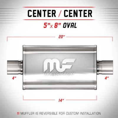 Magnaflow Silencer 4 Inch (100mm) Center/Center Oval - Group-D