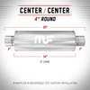 Magnaflow Silencer 3 Inch (76mm) Center/Center Round - Group-D