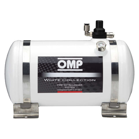 OMP White Collection Electrical Aluminium Bottle Fire Extinguisher System - 4.25 Ltr