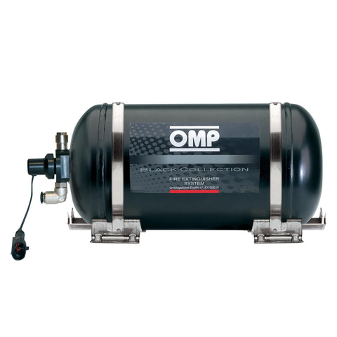 OMP Black Collection Electrical Steel Bottle Fire Extinguisher System - 4.25 Ltr