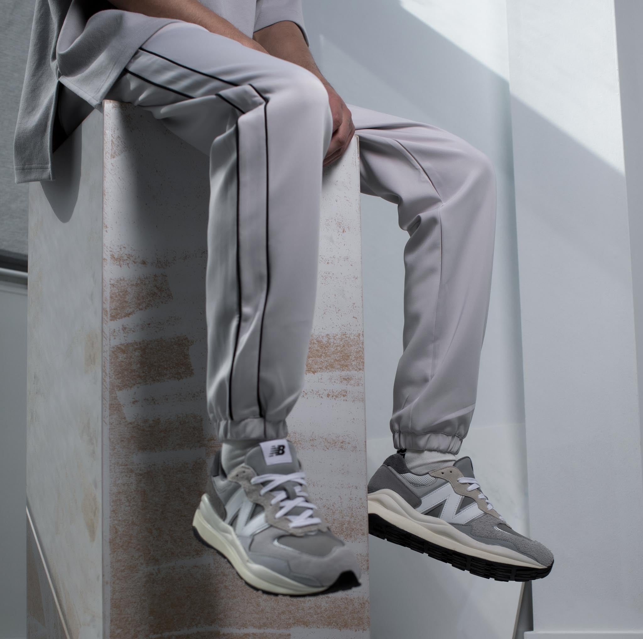 HOMME+ 'ESSENTIAL' Double Piped Trackpants - 2