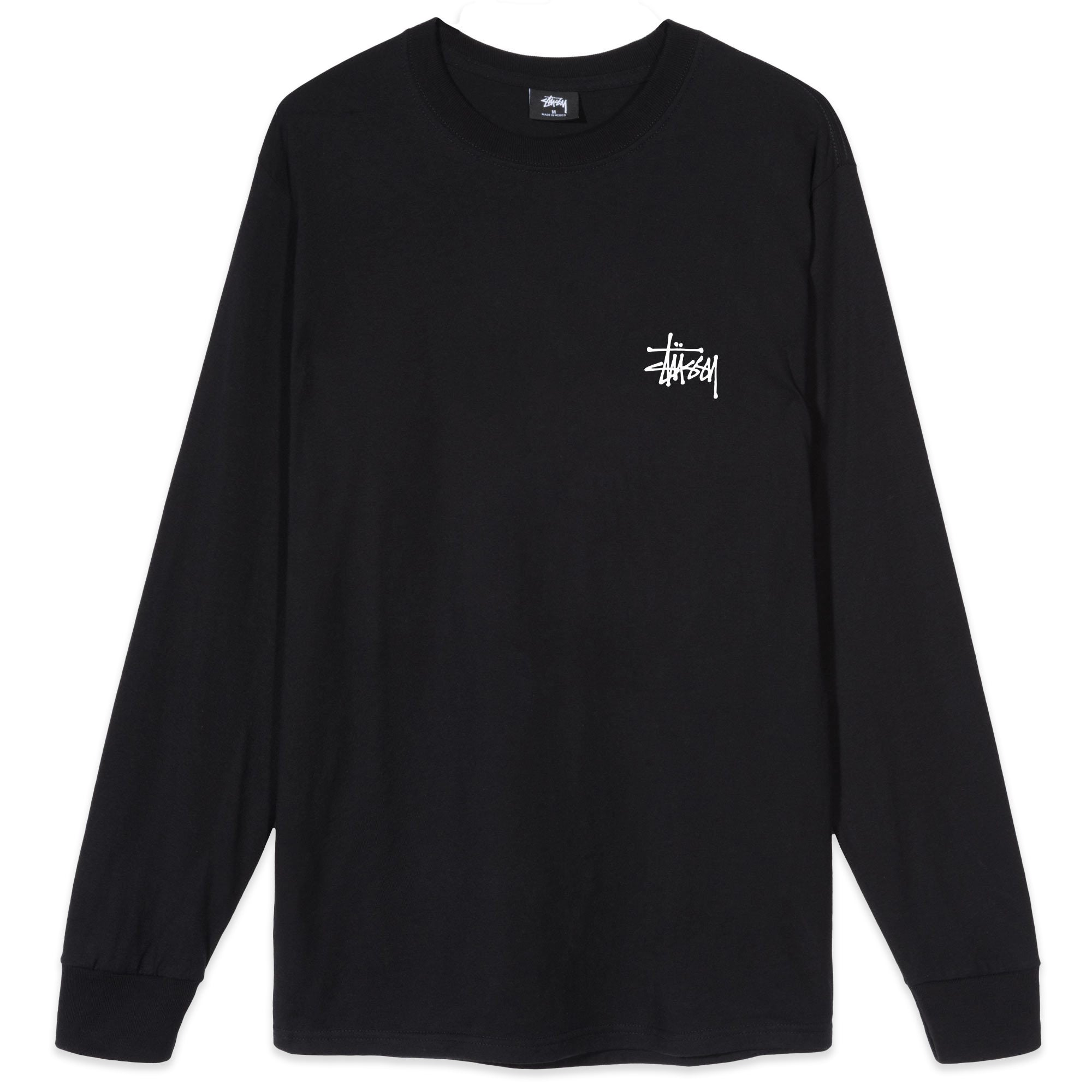 Stussy Basic Long Sleeve Black
