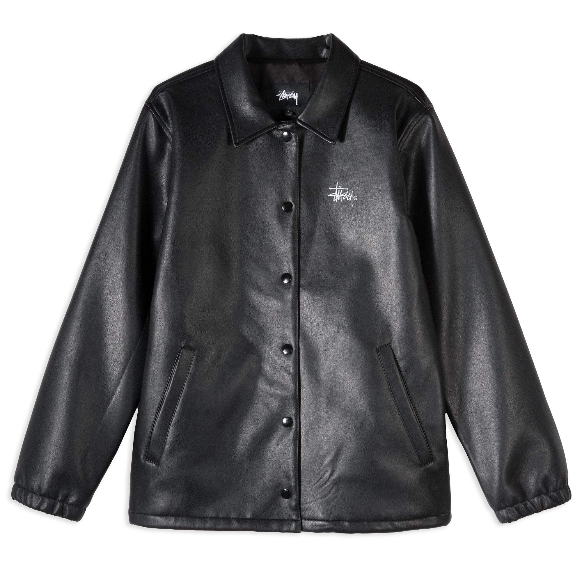 Stussy PU Coach Jacket Black