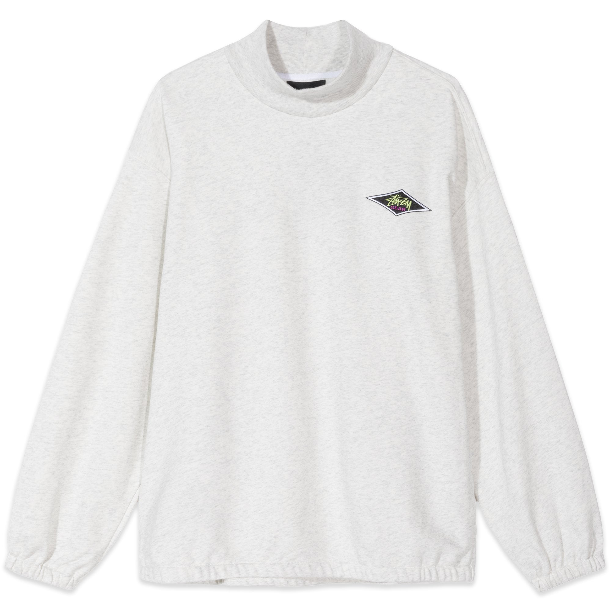 Stussy Benton Long Sleeve Tee Terry Mock Ash