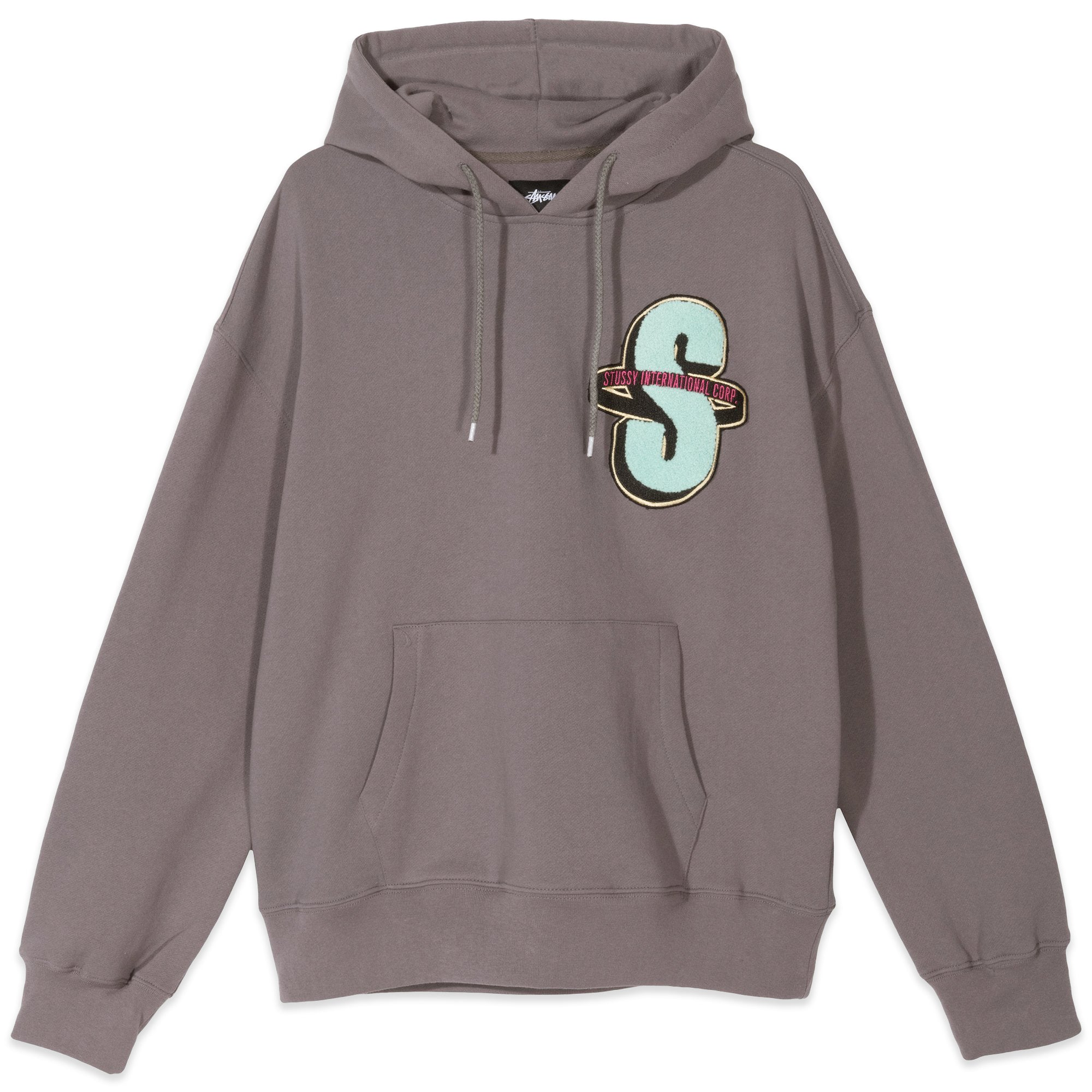 Stussy S Applique Fleece Hoodie Grey