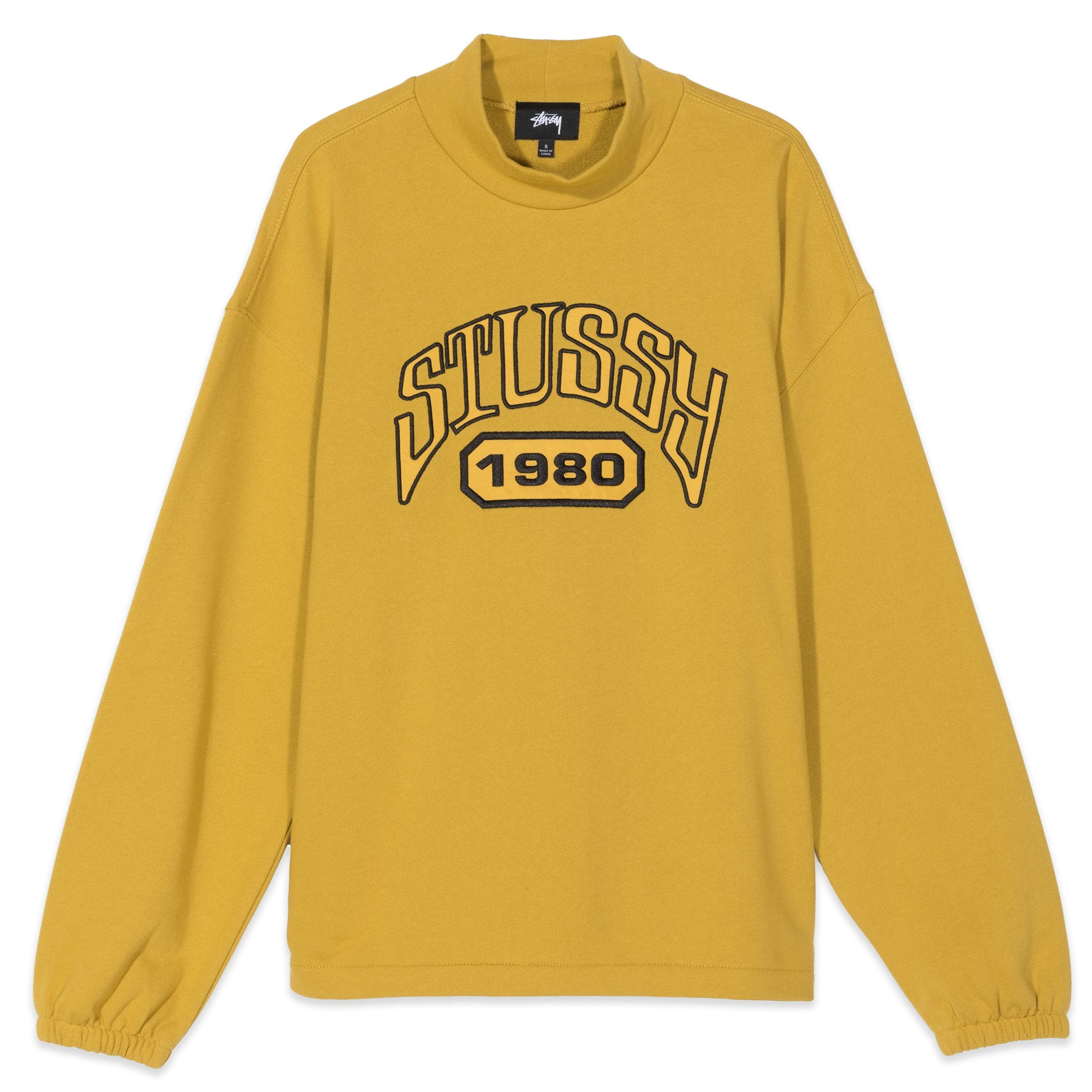 Stussy Tribute Terry Mock Neck Mustard