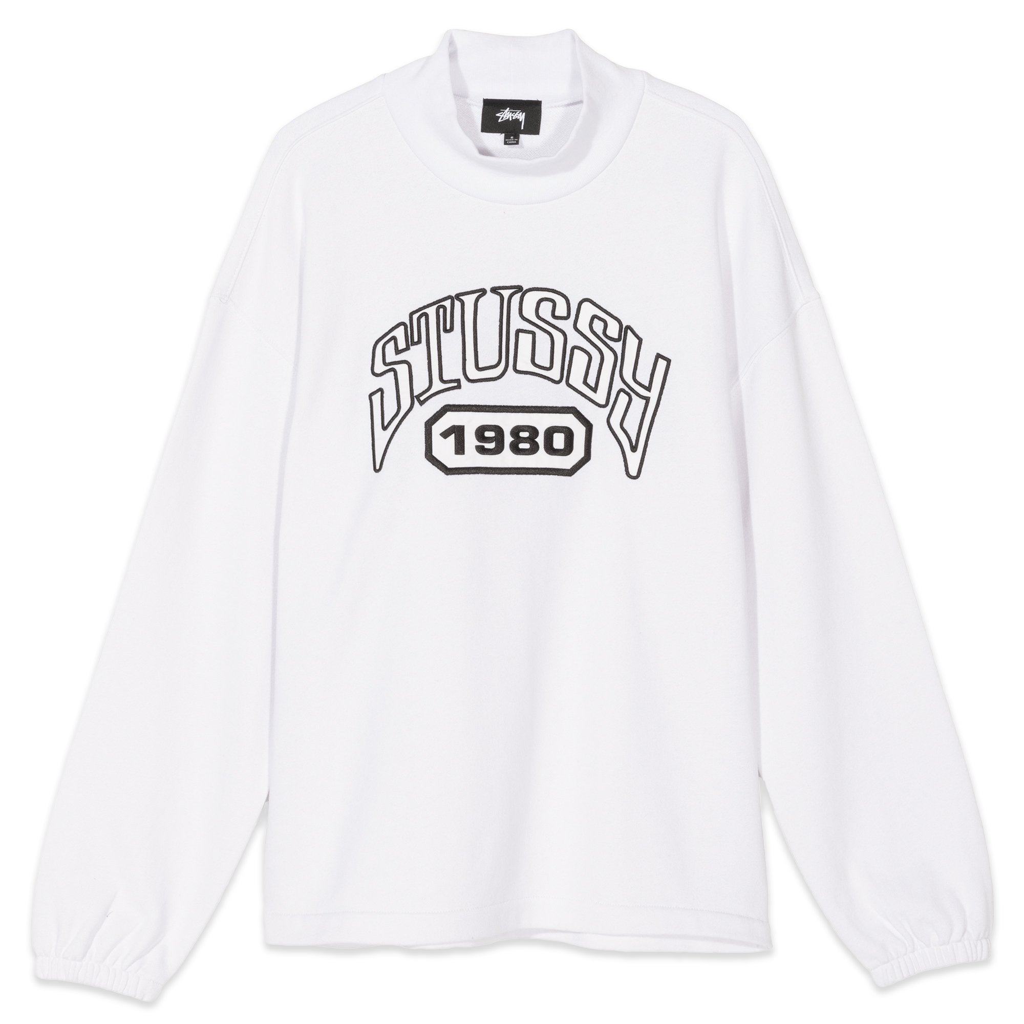 Stussy Tribute Terry Mock Neck White