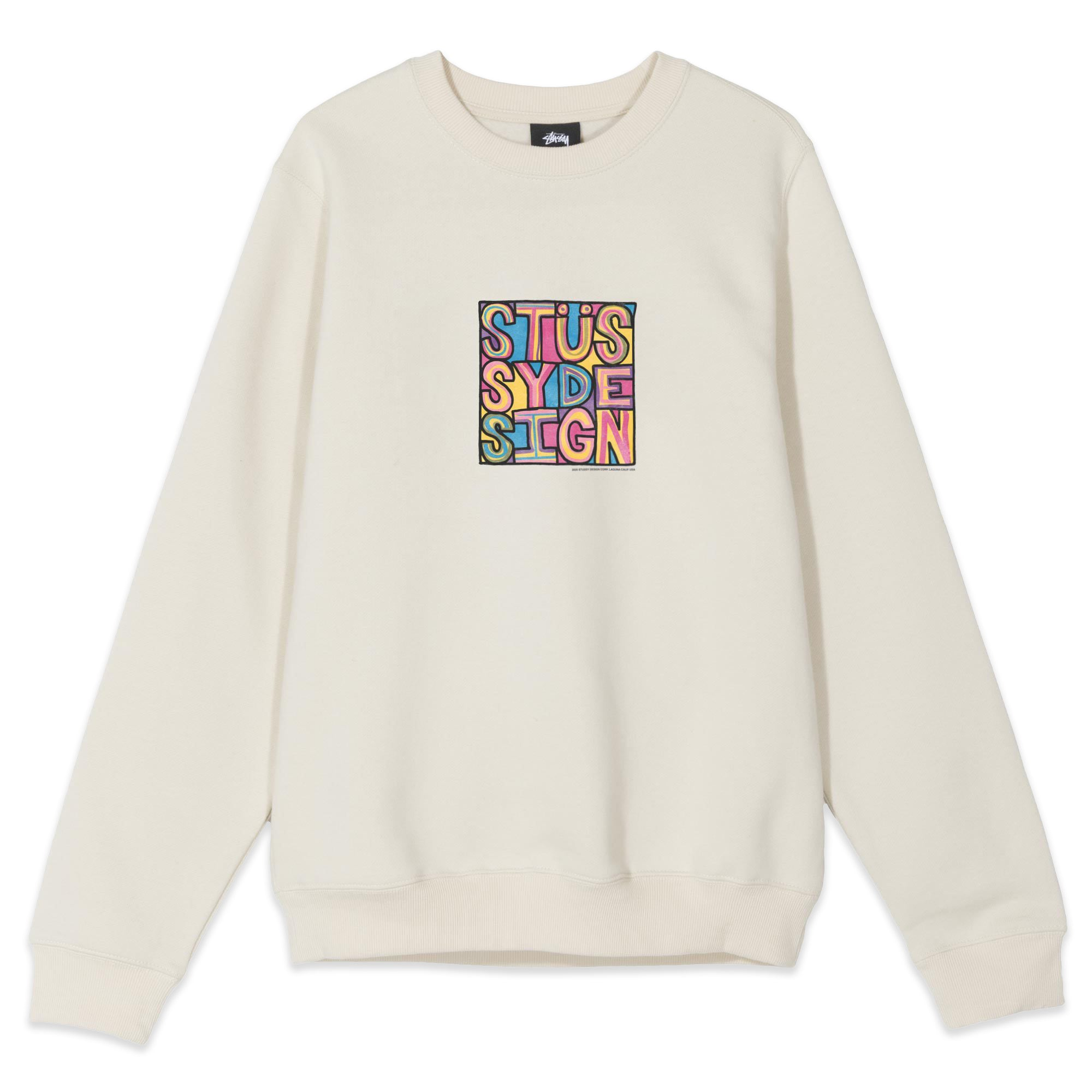Stussy Clyde Crewneck Cement