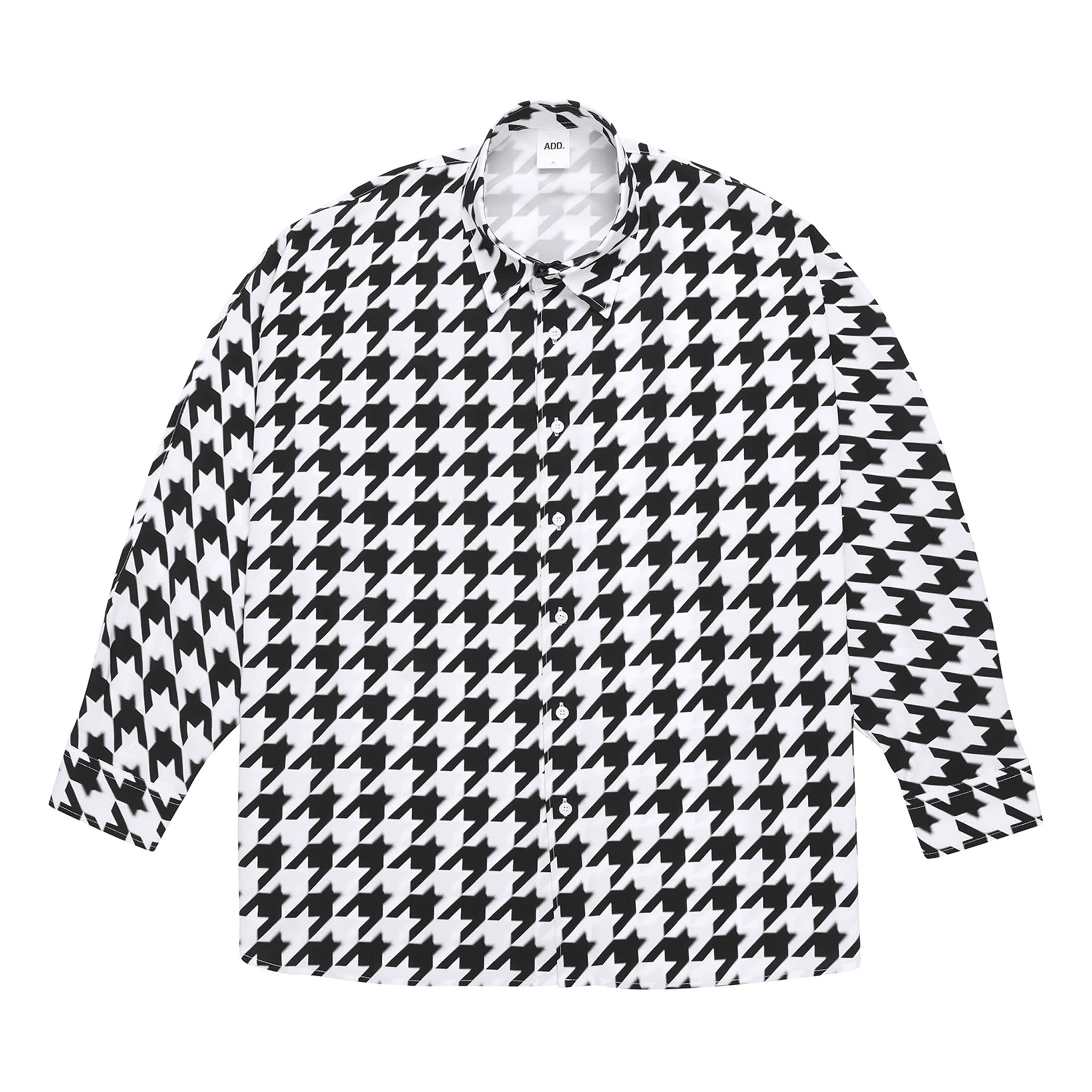 ADD Houndstooth Batwing Shirt Black