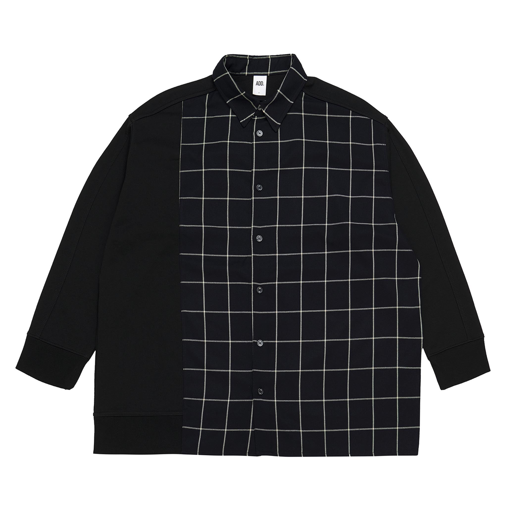 ADD Hybrid Check Shirt Black