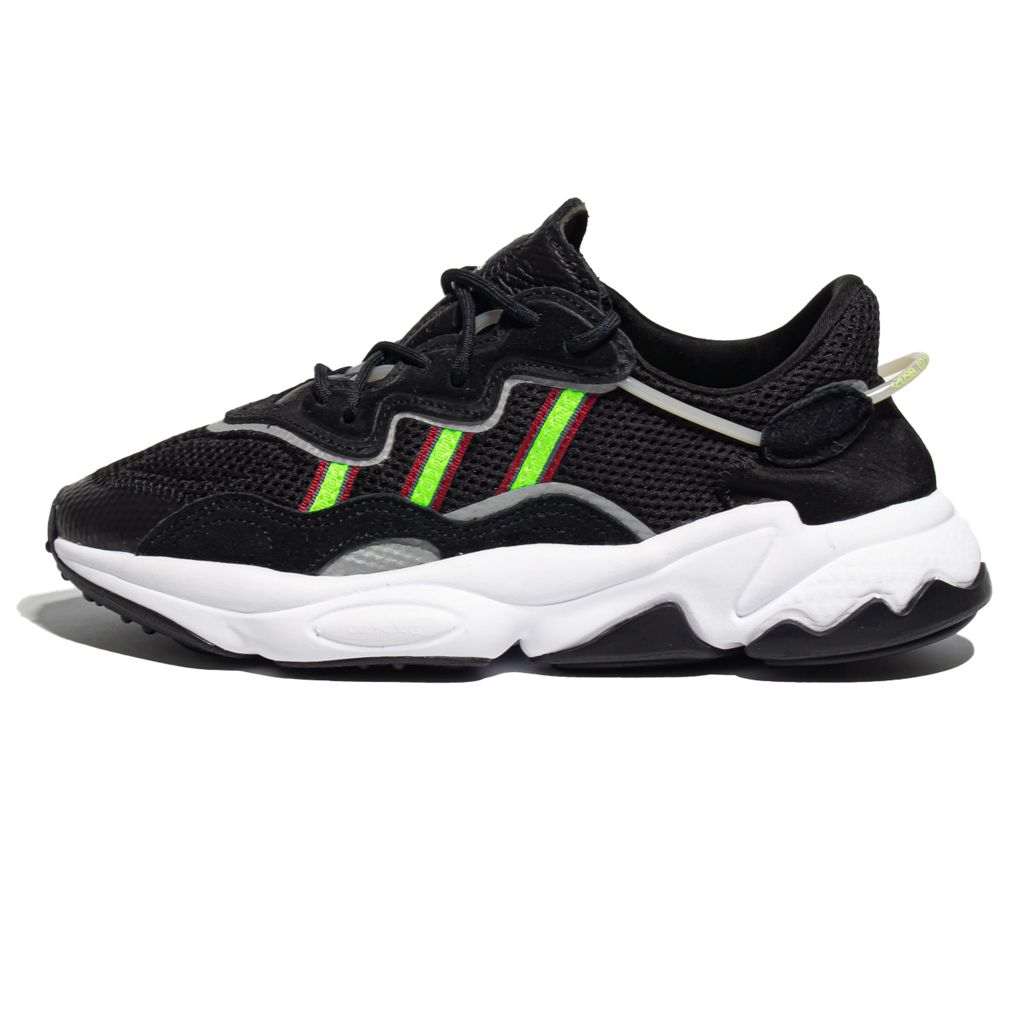ADIDAS Ozweego Core Black/Solar Green