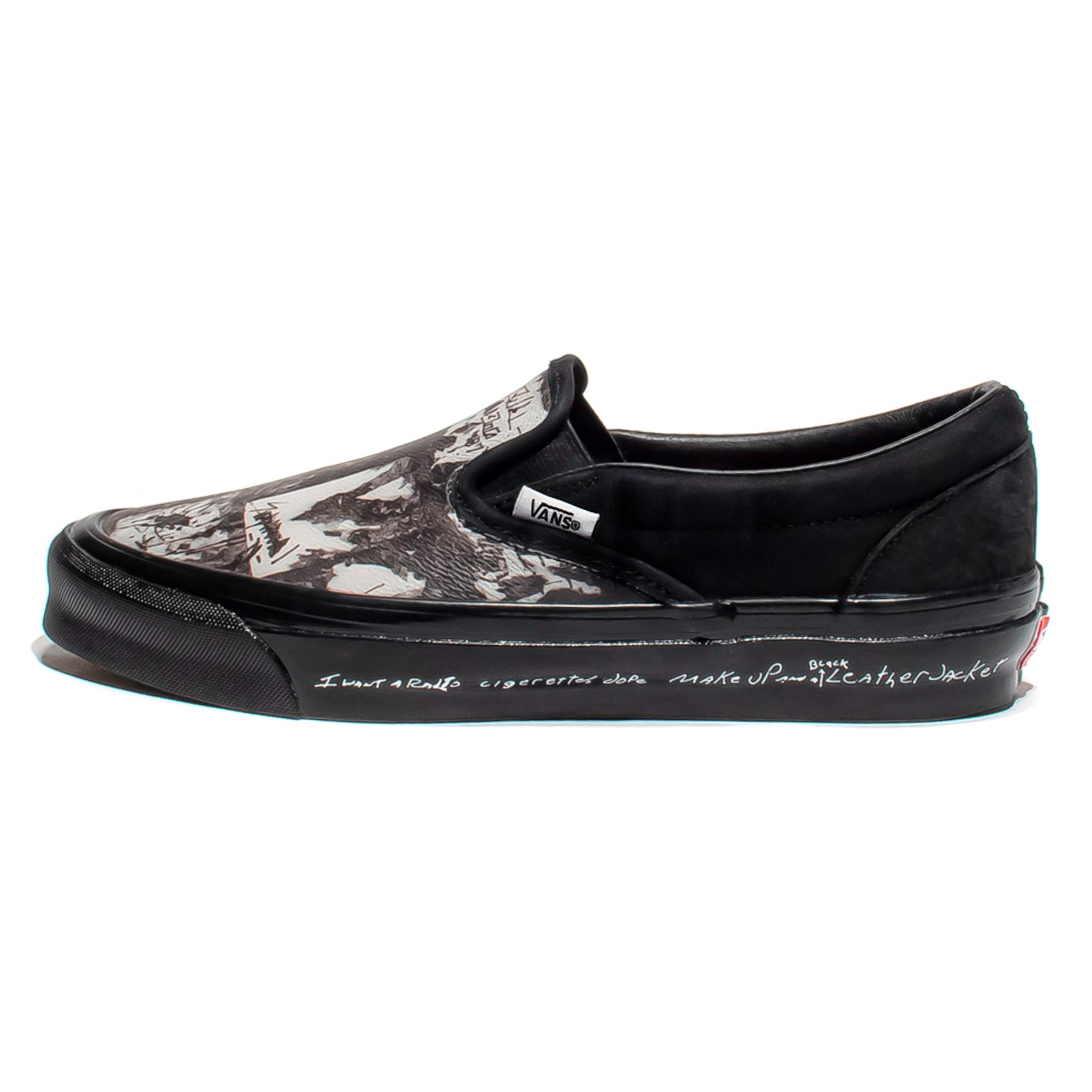 Vans Vault x Jim Goldberg OG Classic Slip-On 'Black Wall'
