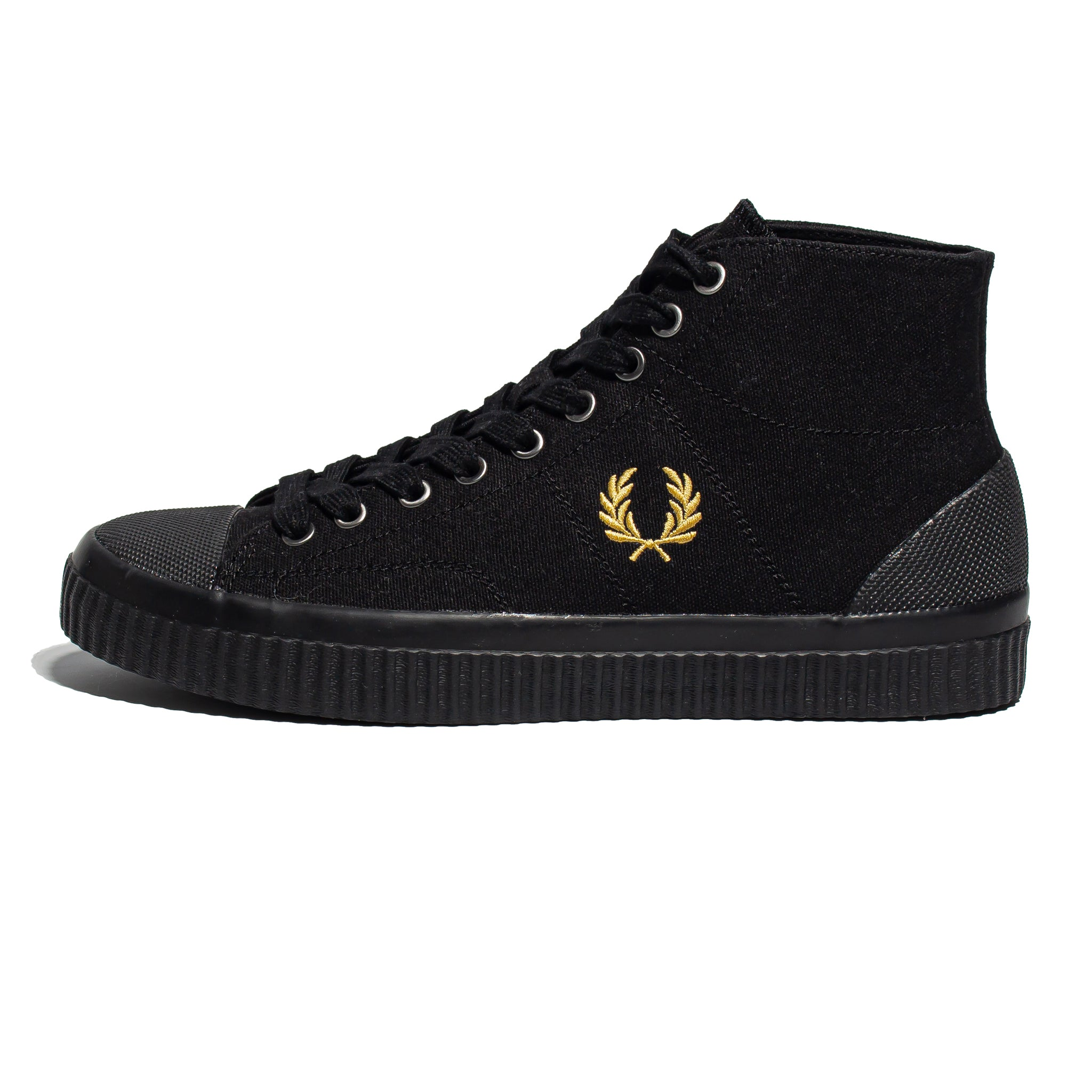 Fred Perry Hughes Mid Canvas Black