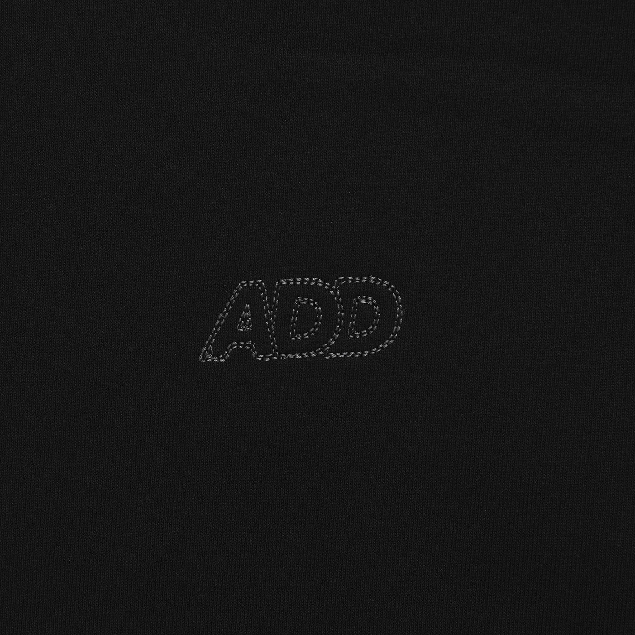 ADD Slogan Crop Hoodie Black