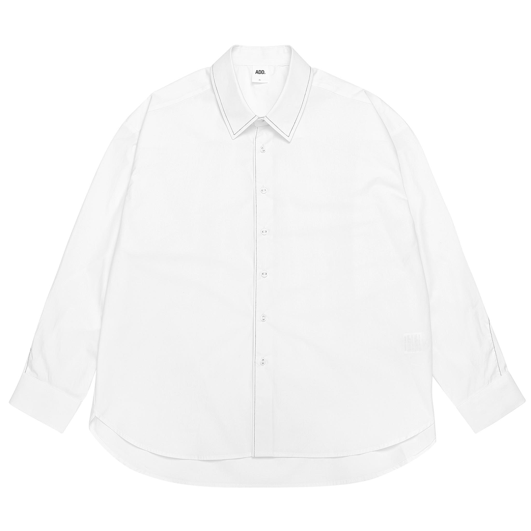 ADD Twist Sleeve Stitch Shirt White